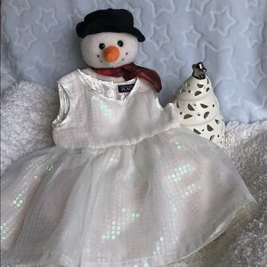 THE CHILDREN'S PLACE SEQUIN HOLIDAY DRESS